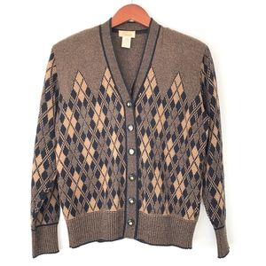 Vintage Renate | 80s Button Down Cardigan Halequin